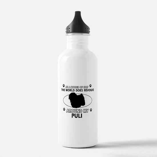 Puli dog funny designs Water Bottle