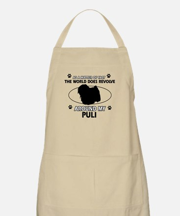 Puli dog funny designs Apron