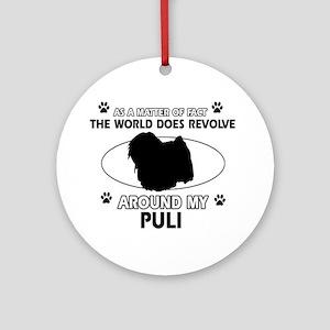 Puli dog funny designs Ornament (Round)