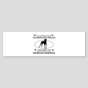 Rhodesian Ridgeback dog funny designs Sticker (Bum