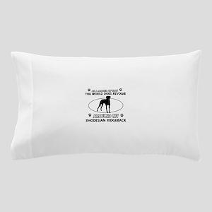 Rhodesian Ridgeback dog funny designs Pillow Case