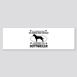 Rottweiler dog funny designs Sticker (Bumper)