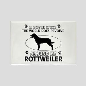 Rottweiler dog funny designs Rectangle Magnet