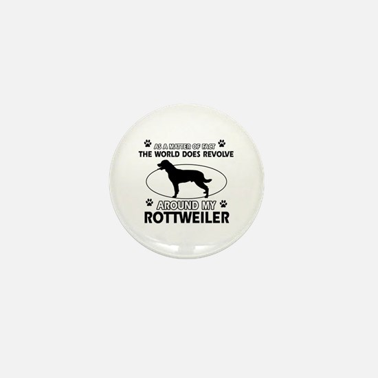 Rottweiler dog funny designs Mini Button
