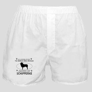 Schipperke dog funny designs Boxer Shorts