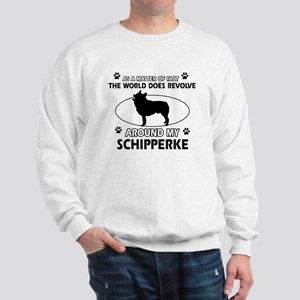 Schipperke dog funny designs Sweatshirt