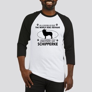 Schipperke dog funny designs Baseball Jersey