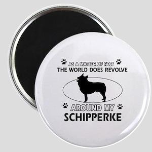 Schipperke dog funny designs Magnet