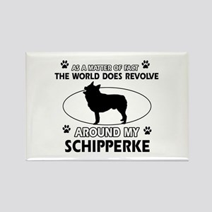 Schipperke dog funny designs Rectangle Magnet