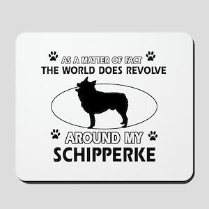 Schipperke dog funny designs Mousepad