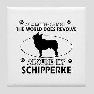 Schipperke dog funny designs Tile Coaster