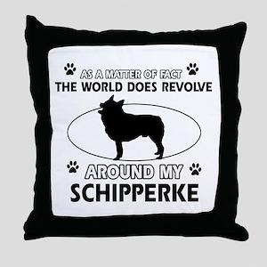 Schipperke dog funny designs Throw Pillow