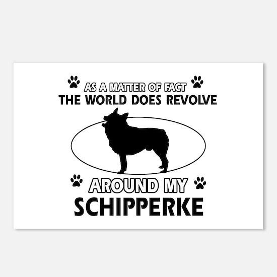 Schipperke dog funny designs Postcards (Package of