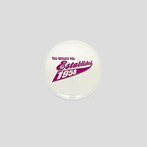 Established in 1958 birthday designs Mini Button