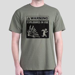 Warning: Explosives Black Dark T-Shirt