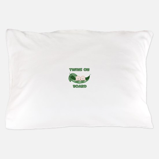 TWINS ON BOARD Pillow Case