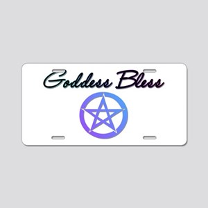 Goddess Bless Aluminum License Plate