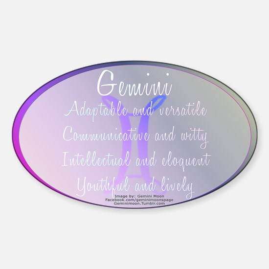 Gemini Astrology Sticker (Oval)