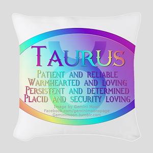 Taurus Woven Throw Pillow