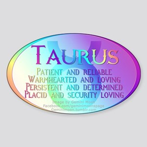 Taurus Sticker (Oval)