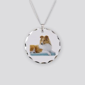 Shetland Sheepdog AF113D-030 Necklace Circle Charm
