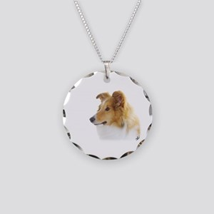 Shetland Sheepdog AF113D-035 Necklace Circle Charm