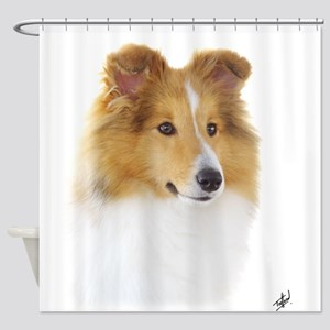 Shetland Sheepdog AF113D-042 Shower Curtain