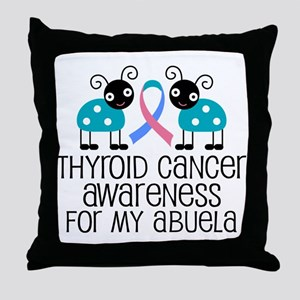 Thyroid Cancer Support For Abuela Throw Pillow