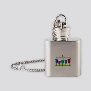 Retired Social Worker Flask Necklace