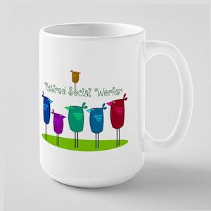 Retired Social Worker Large Mug