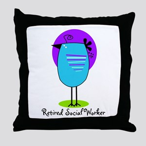 Retired Social Worker Throw Pillow