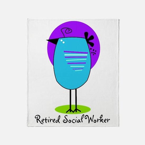 Retired Social Worker Throw Blanket