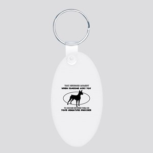 Miniature Pinscher dog funny designs Aluminum Oval