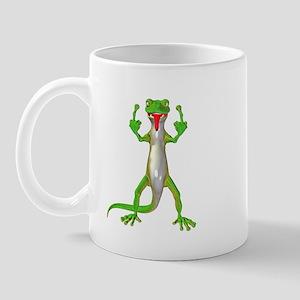 Gecko Lizard Flipping Off Mug