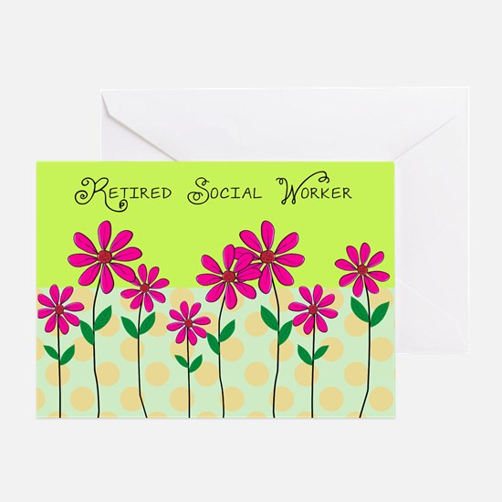 Retired Social Worker Greeting Card