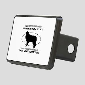 Newfoundland dog funny designs Rectangular Hitch C