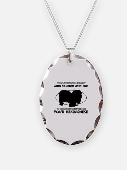 Pekingnese dog funny designs Necklace