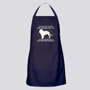 Portuguese Waterdog dog funny designs Apron (dark)