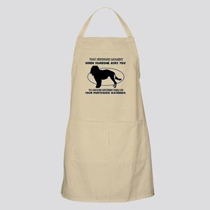 Portuguese Waterdog dog funny designs Apron