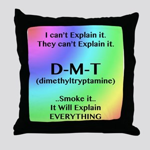 DMT Explain Throw Pillow