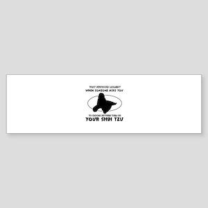 Shih Tzu dog funny designs Sticker (Bumper)