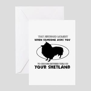 Shetland dog funny designs Greeting Card