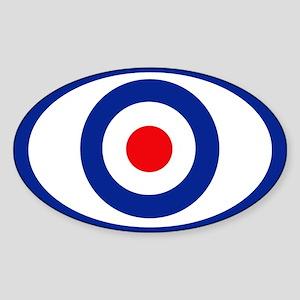 mod target Oval Sticker