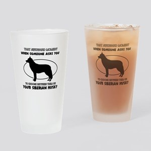 Siberian Husky dog funny designs Drinking Glass