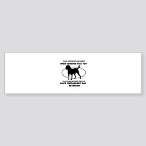 Chesapeake Bay Retriever dog funny designs Sticker