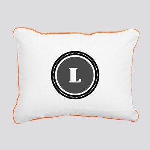 Gray Rectangular Canvas Pillow