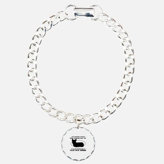 Skye Terrier dog funny designs Bracelet