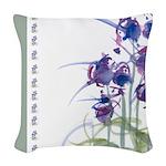 Atom Flowers #39 Woven Throw Pillow