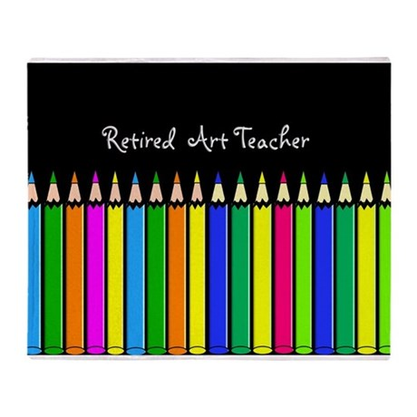 retired art teacher 2013 e Throw Blanket