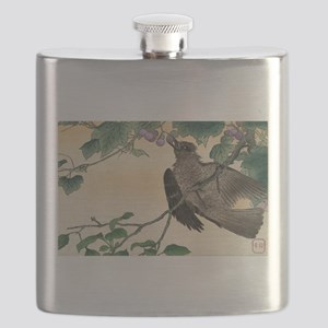 Birds And Flowers - anon - 1900 - woodcut Flask